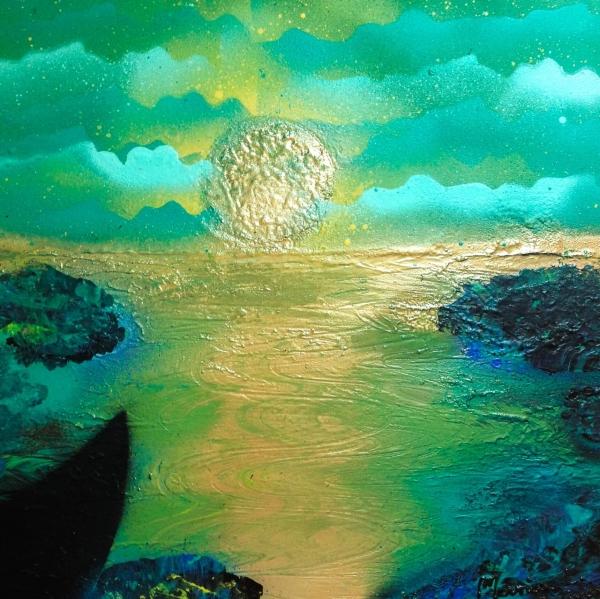 Tableau Petit coin de paradis par Mounia LOUKRISS